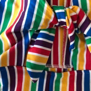 091b1c91cf76 Forever 21 Pants - Rainbow Stripe Tie Front Romper